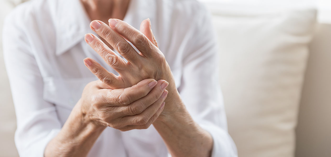 Arthritis old woman