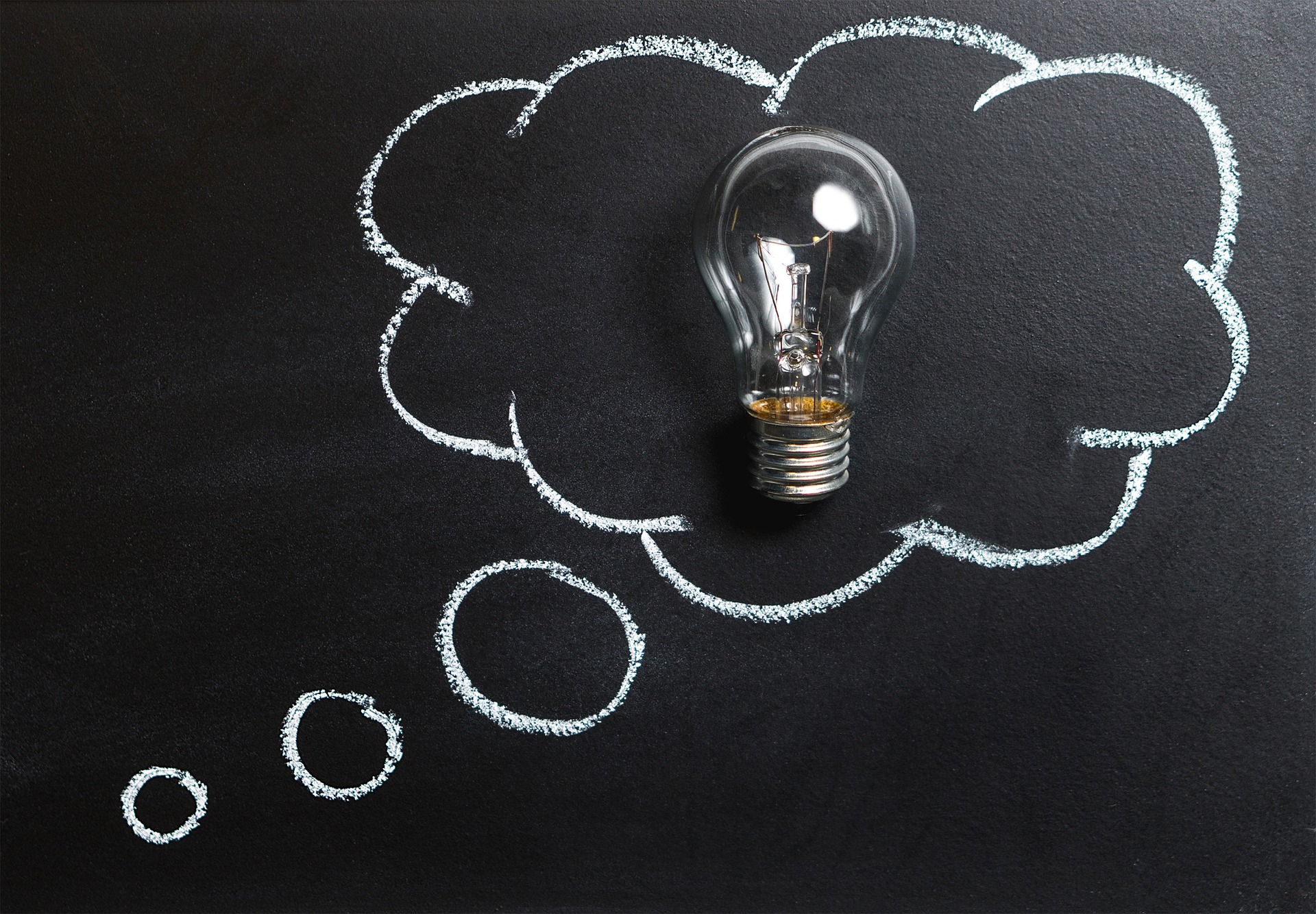 blackboard cloud lightbulb idea 5 resilient habits to promote healthy brain and improve performance