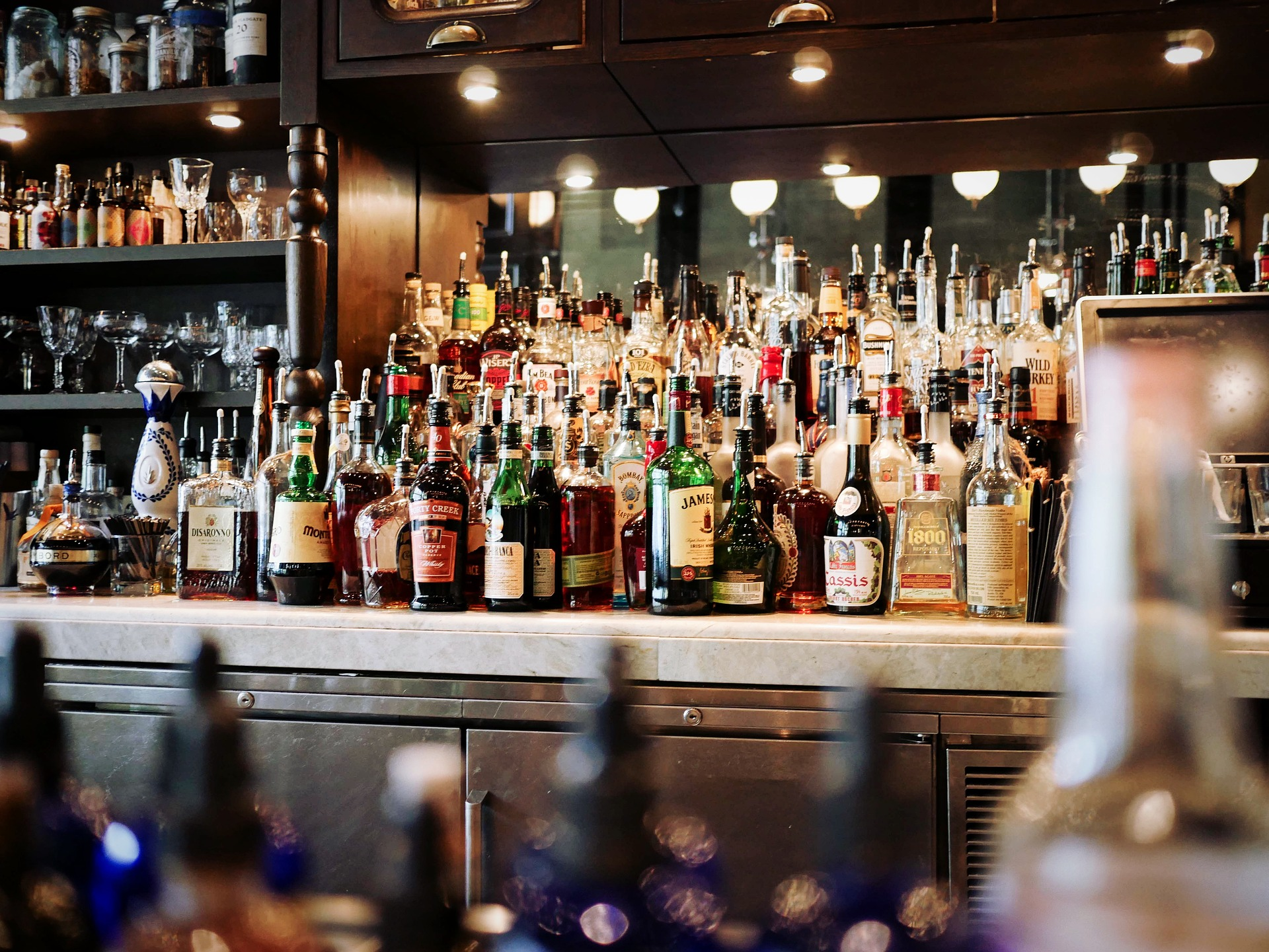 bottles of alcohol liquor link between customer service and booze